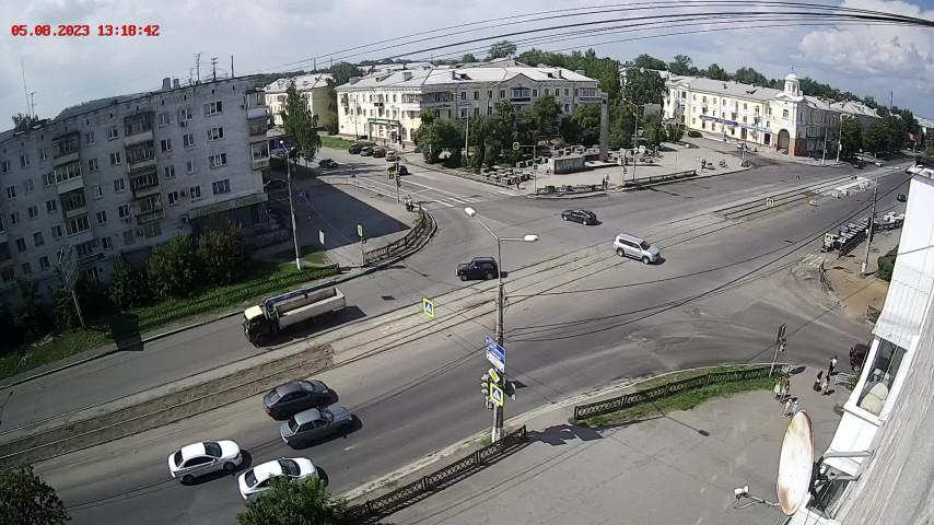 Перекресток ул. Фрунзе и ул. Черных